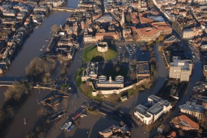 Arial photo of York flooding