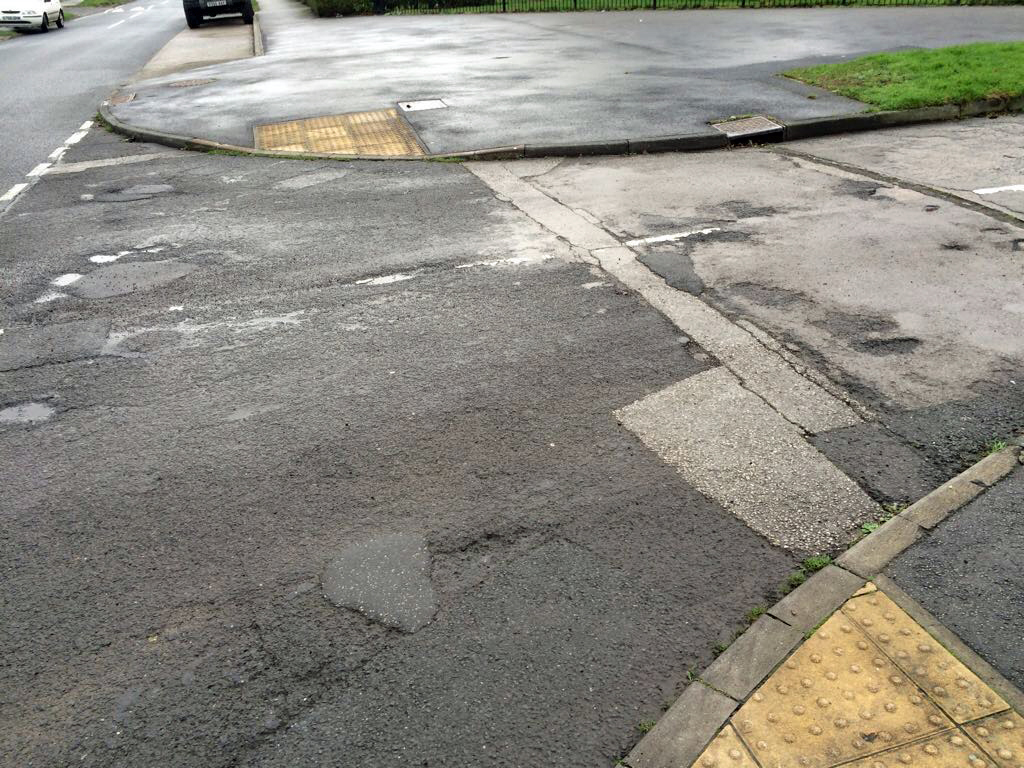 Bramham Grove carriageway needs patching