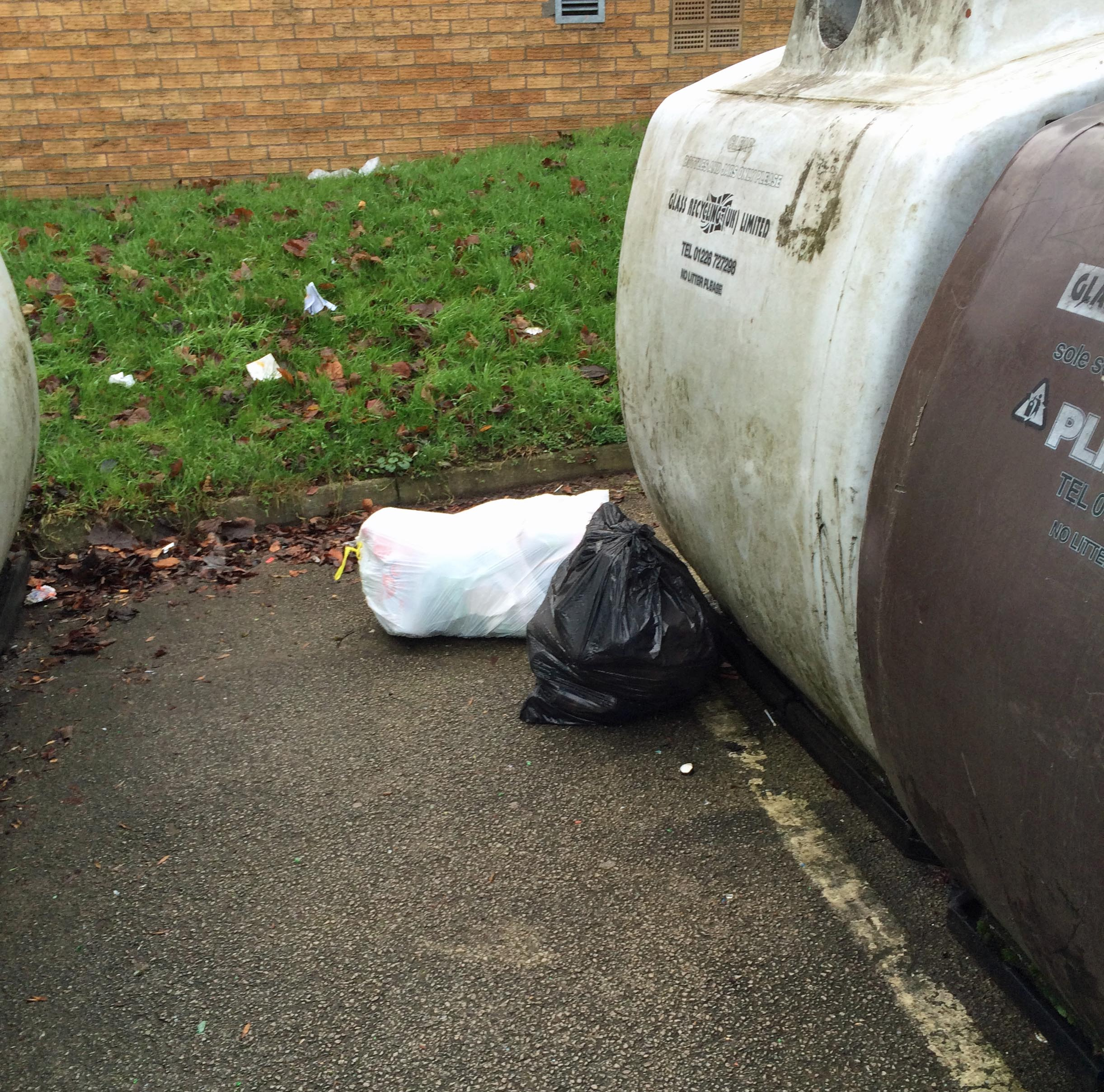 Dumping at Acomb Car Park recycling point