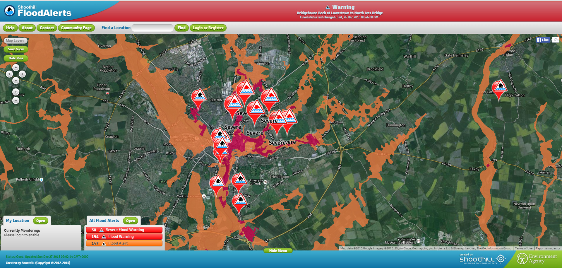 Flooding latest 13 flood alerts in place in York Steve Galloway – Flood Map York Uk