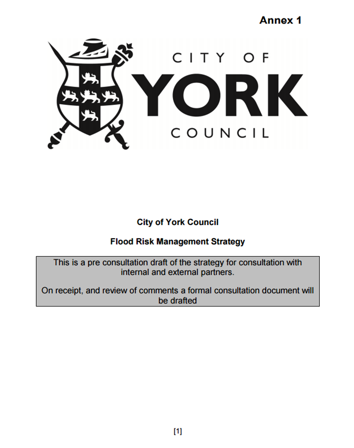 York Flood report Sept 2014. click to access