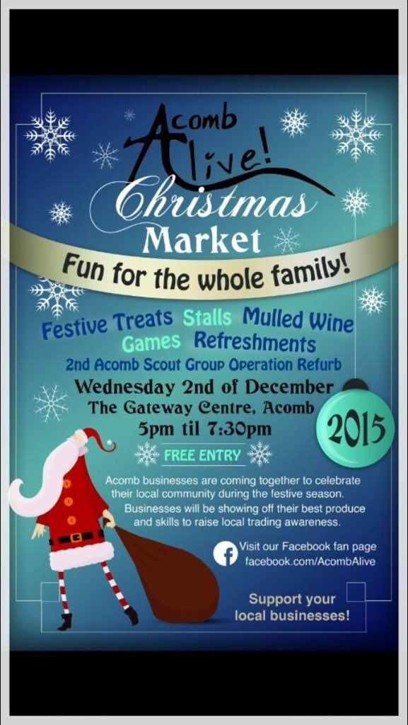 Xmas fair 2nd Dec 2015 Acomb Alive
