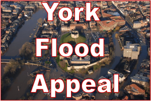 £240,000 has so far been donated towards the £250,000 target for the York Flood Appeal. Click to donate