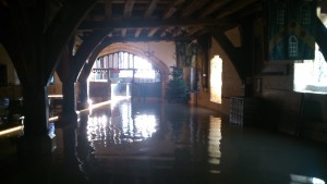 The historical Merchant Adventures Hall was one of the victims of ht flooding.