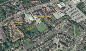 Land near Acomb Library which could be improved. Click to enlarge