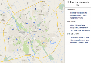 Children's centres in York click for detail