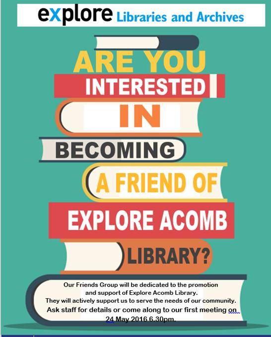Friends of Acomb Explore Library