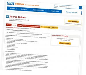 Acomb Garth NHS choices web site review