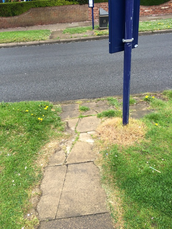 We've reported that repairs are need to bus stop bording areas on Hamilton Drive