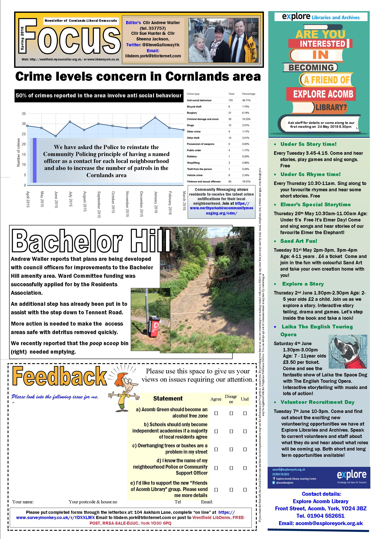 Cornlands Focus May 2016 page 1