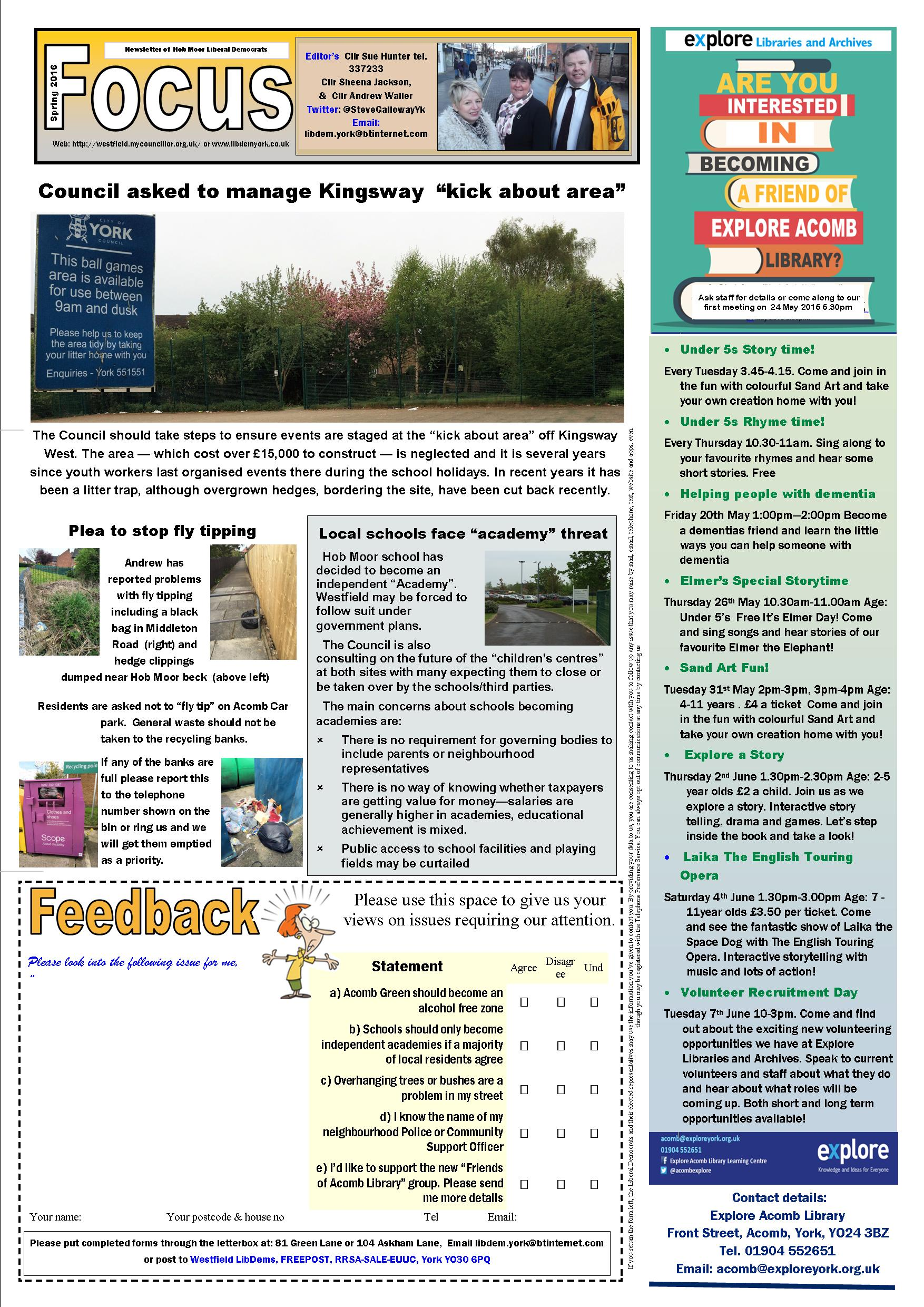 Hob Moor Focus May 2016 page 1