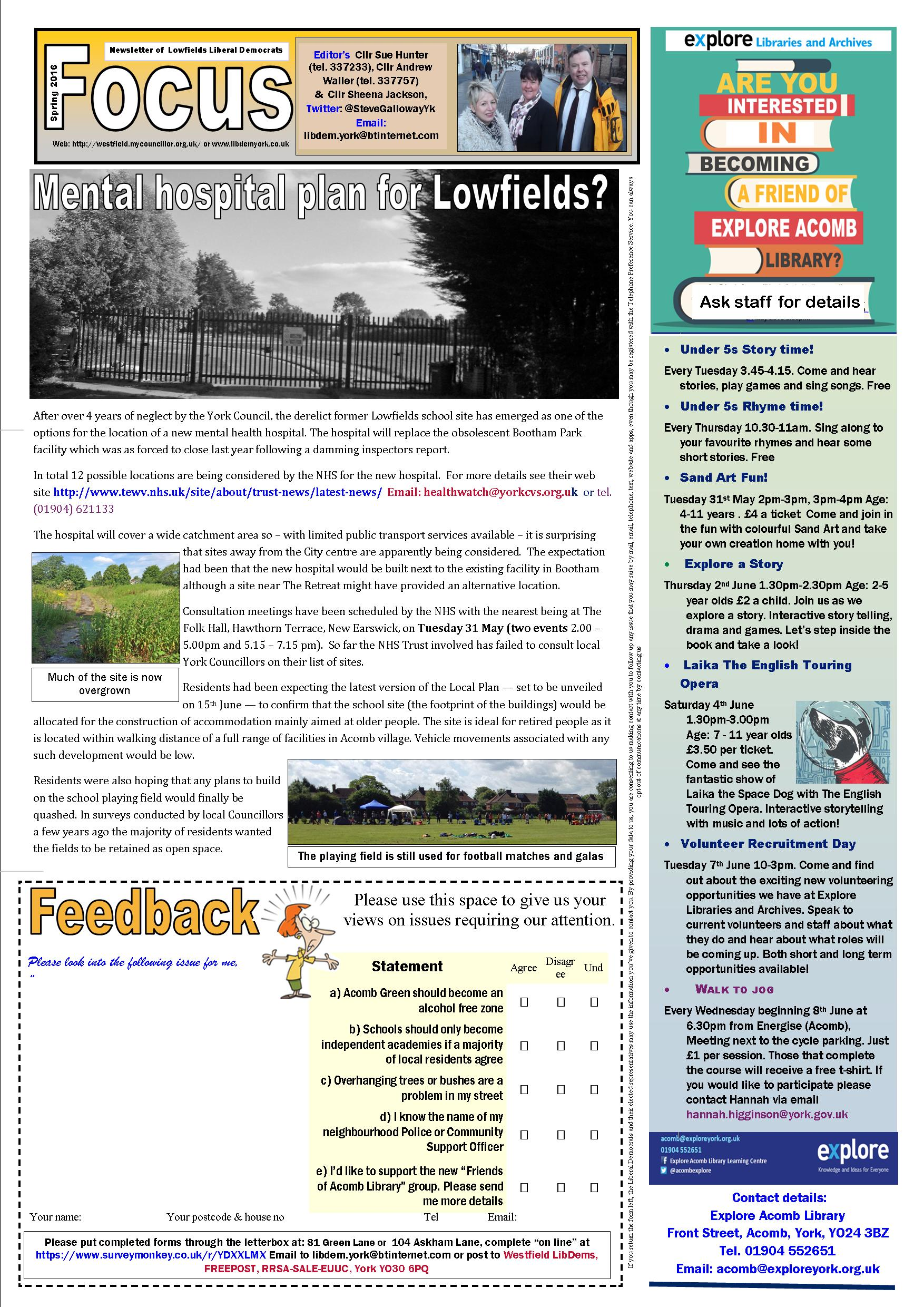 Lowfields Focus May 2016 page 1