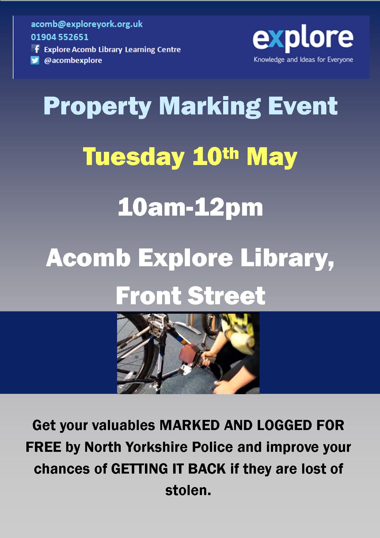 Property marking 10th May 2016