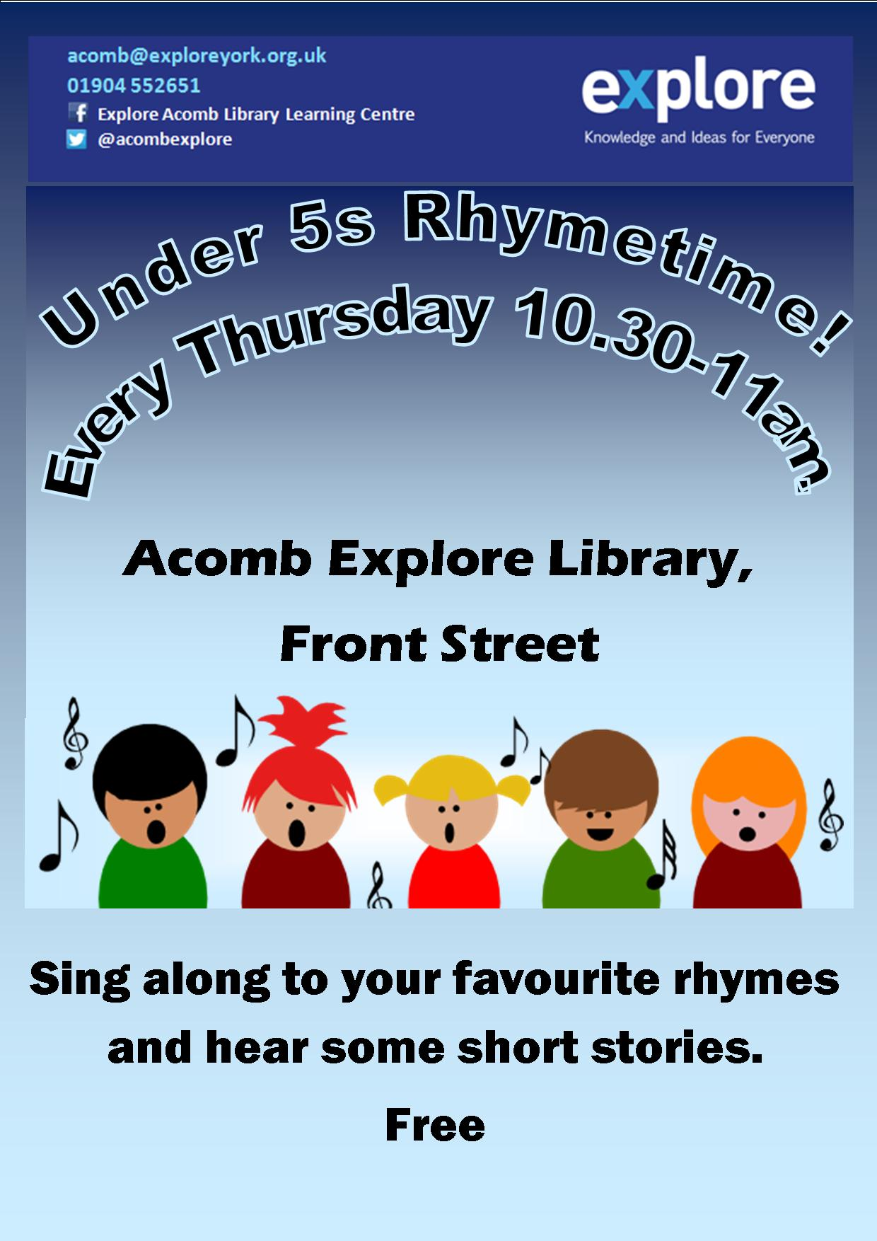 Under 5s rhymetime May 2016