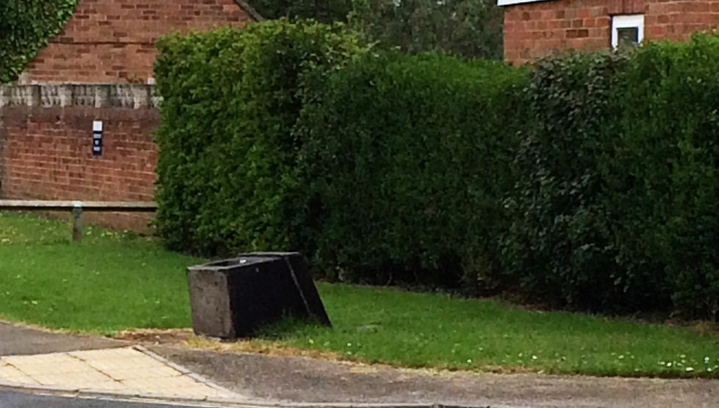 Salt bin on Ascot Way has been vandalised