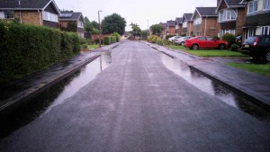 Ponding on Foxwood Hill reported thsi wekend by Cllr Sheena Jackson