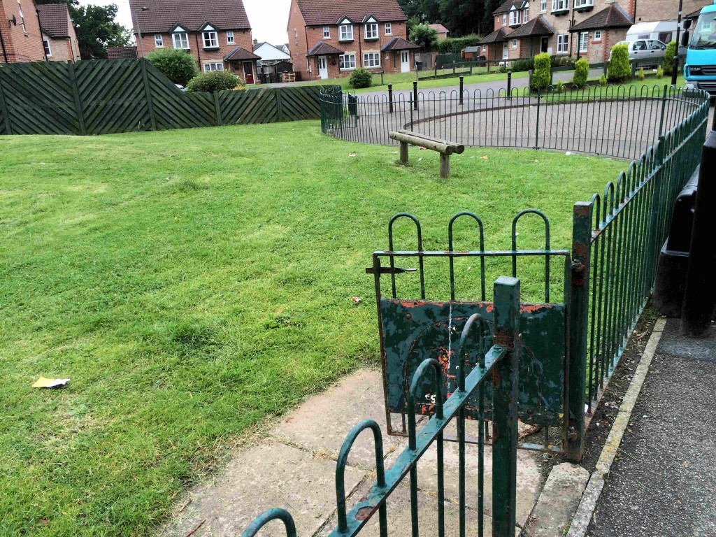 Litter in Spindle Close amenity area reported