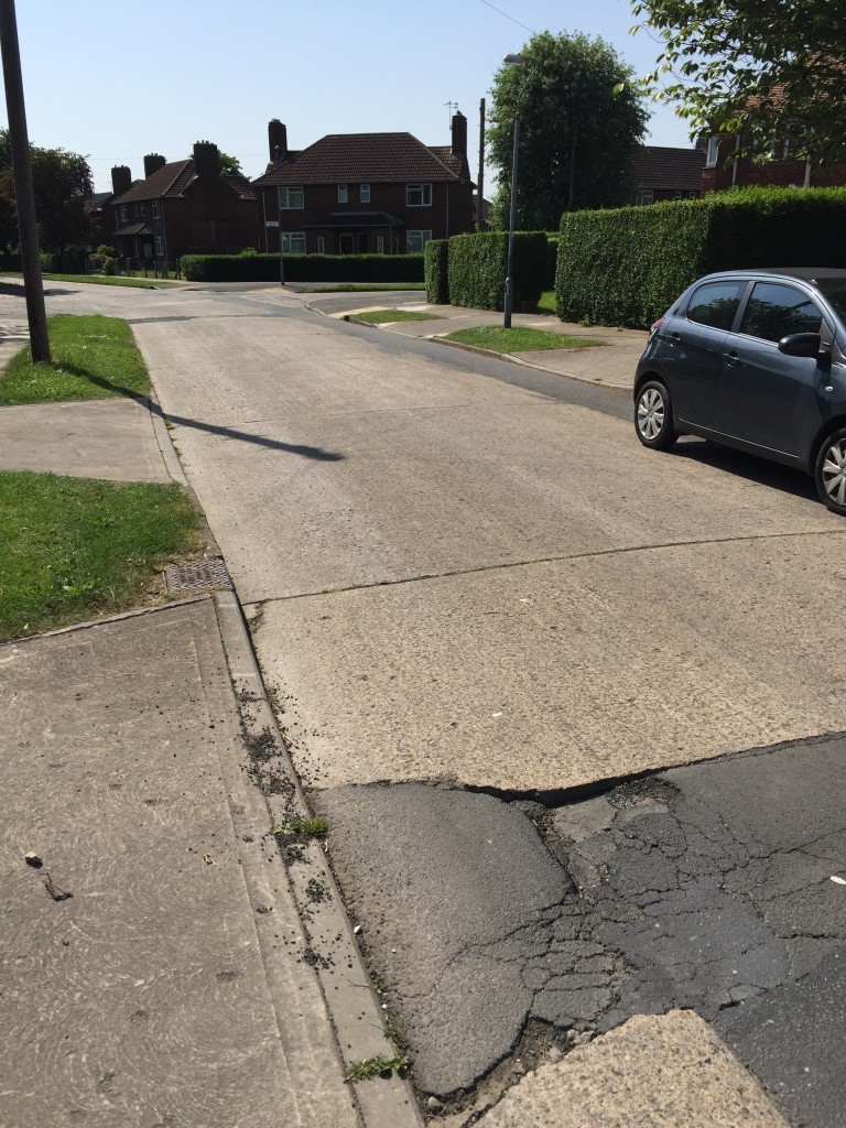 a speed cushion on Danesfort Avenue requires attention