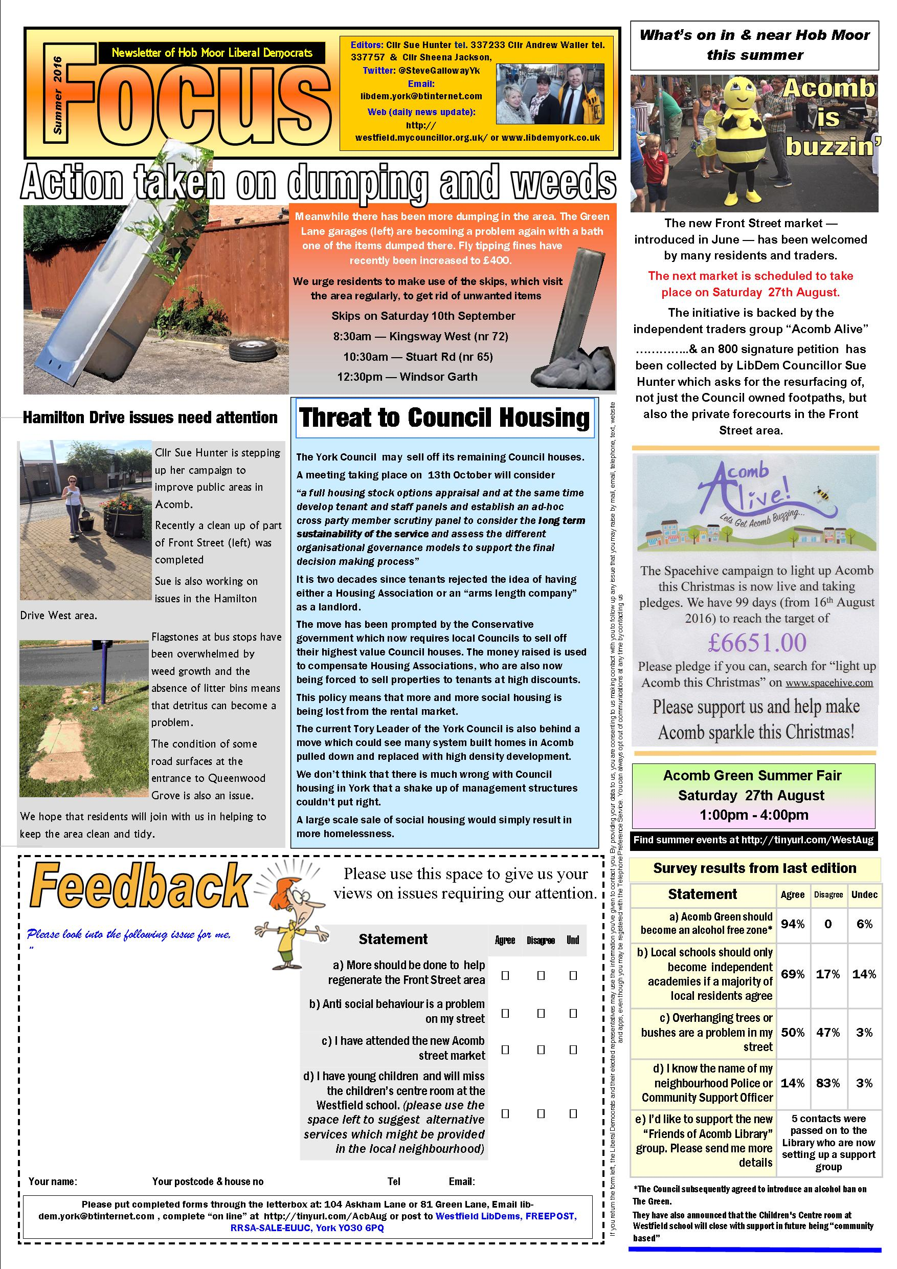 Hob Moor Focus August 2016 page 1