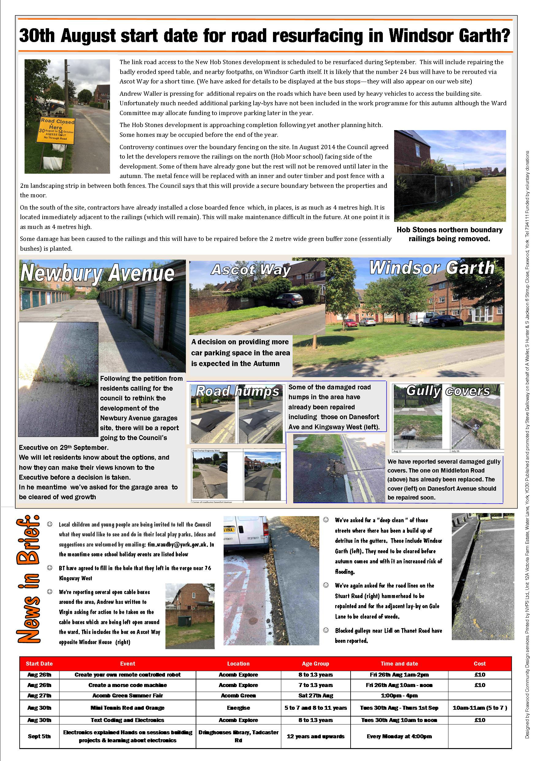 Hob Moor Focus August 2016 page 2