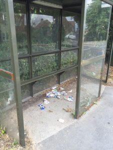 Litter Askham Lane bus stop