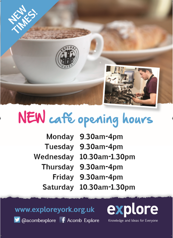Acomb library cafe opening hours