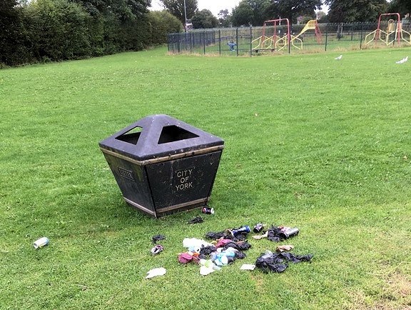 We reported lots of issues not least this bin on Cheney's Field which had been overturned