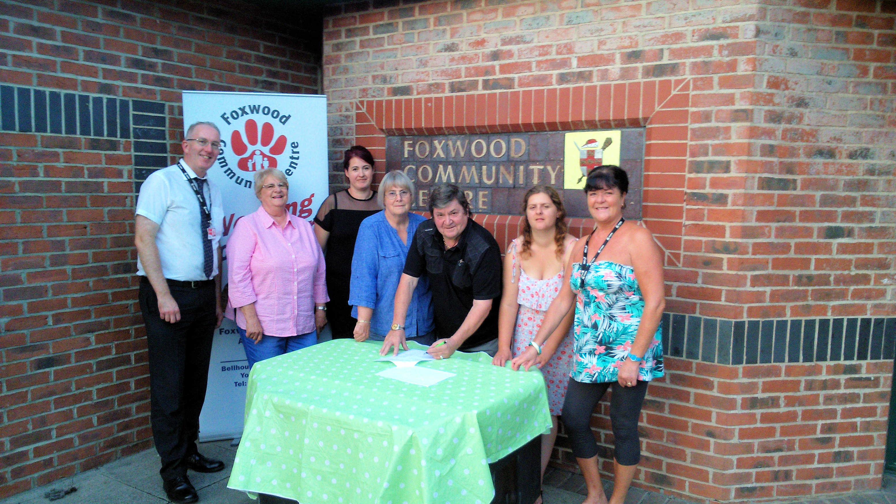 Community Centre lease signing