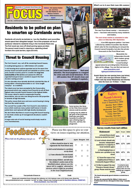 Cornlands Focus Sept 2016 page 1