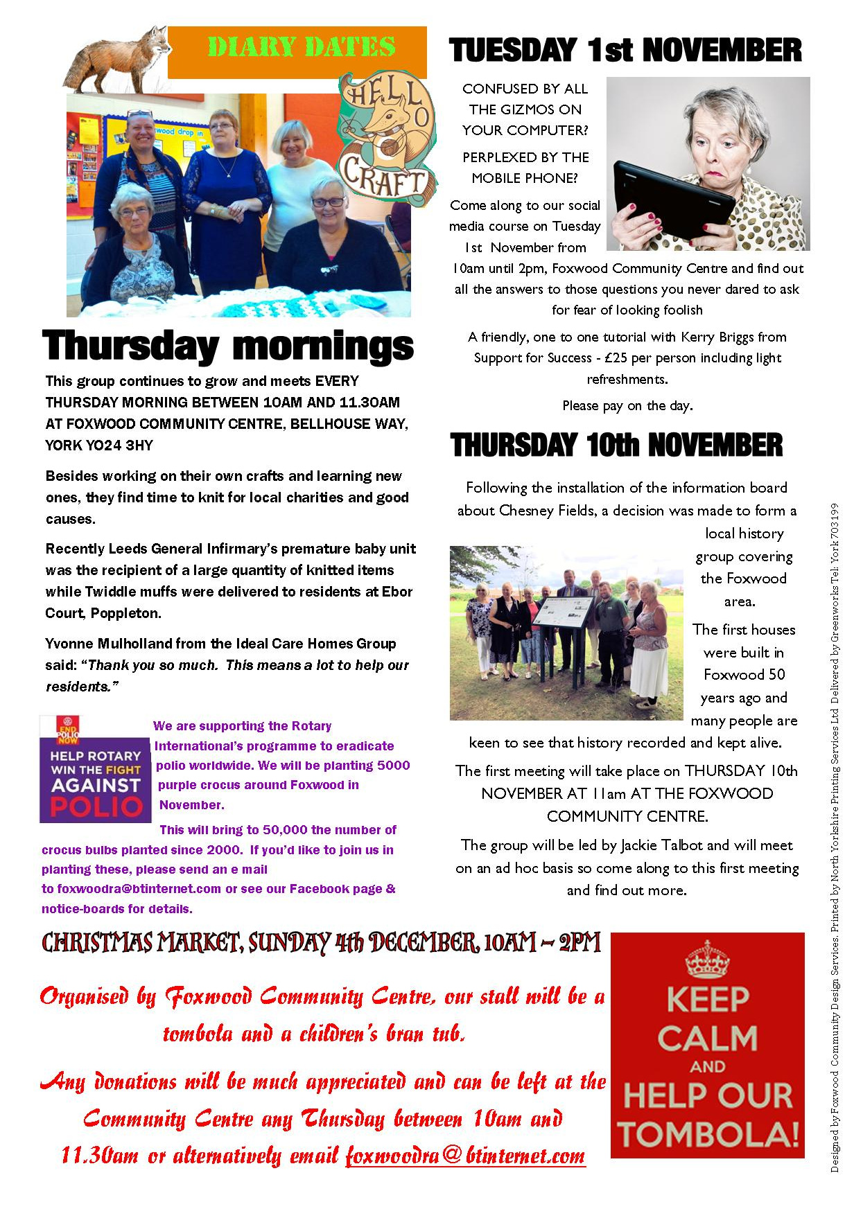 Newsletter autumn 2016 Page 2