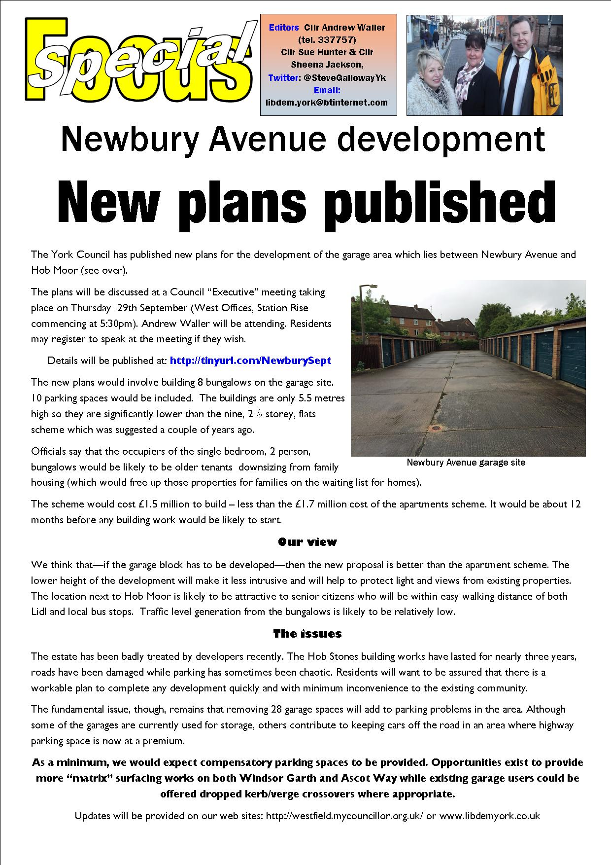Page 1 nEWBURY aVE OPTIONS sEPT 2016