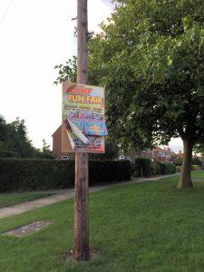 Posters next to 104 Askham Lane
