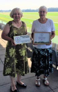 Sue and Shirley wiht cert