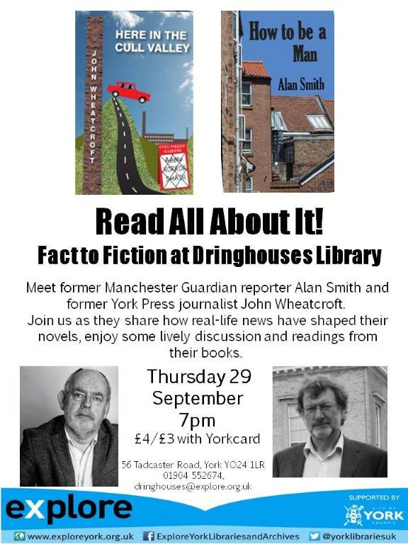 fact  to fiction Dringhouses library 29th Sept
