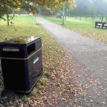 New bin in Foxwood Park