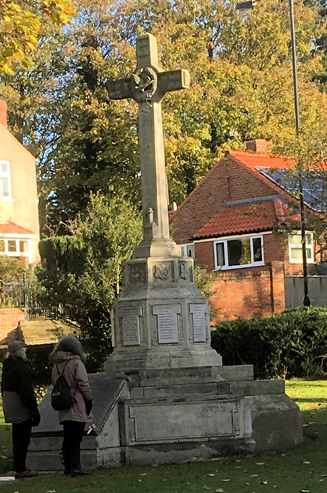 The war memorial was given a spruce up - and the surrounding railings repaired - prior to Remembrance Day