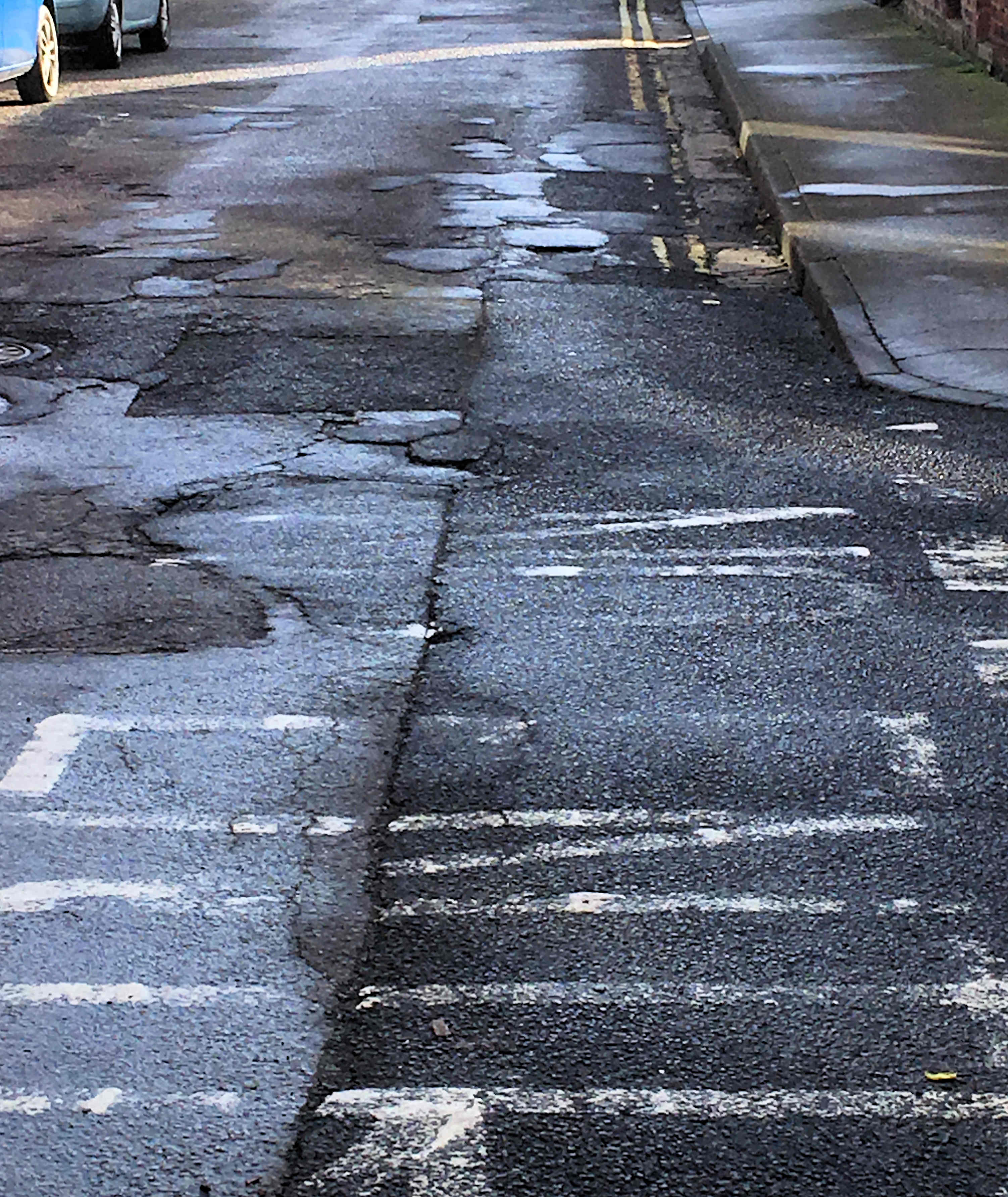 A report  revealed that there and been a substantial increase in cyclist casualties in York last year. Poor road surfaces like those in School Street were blamed