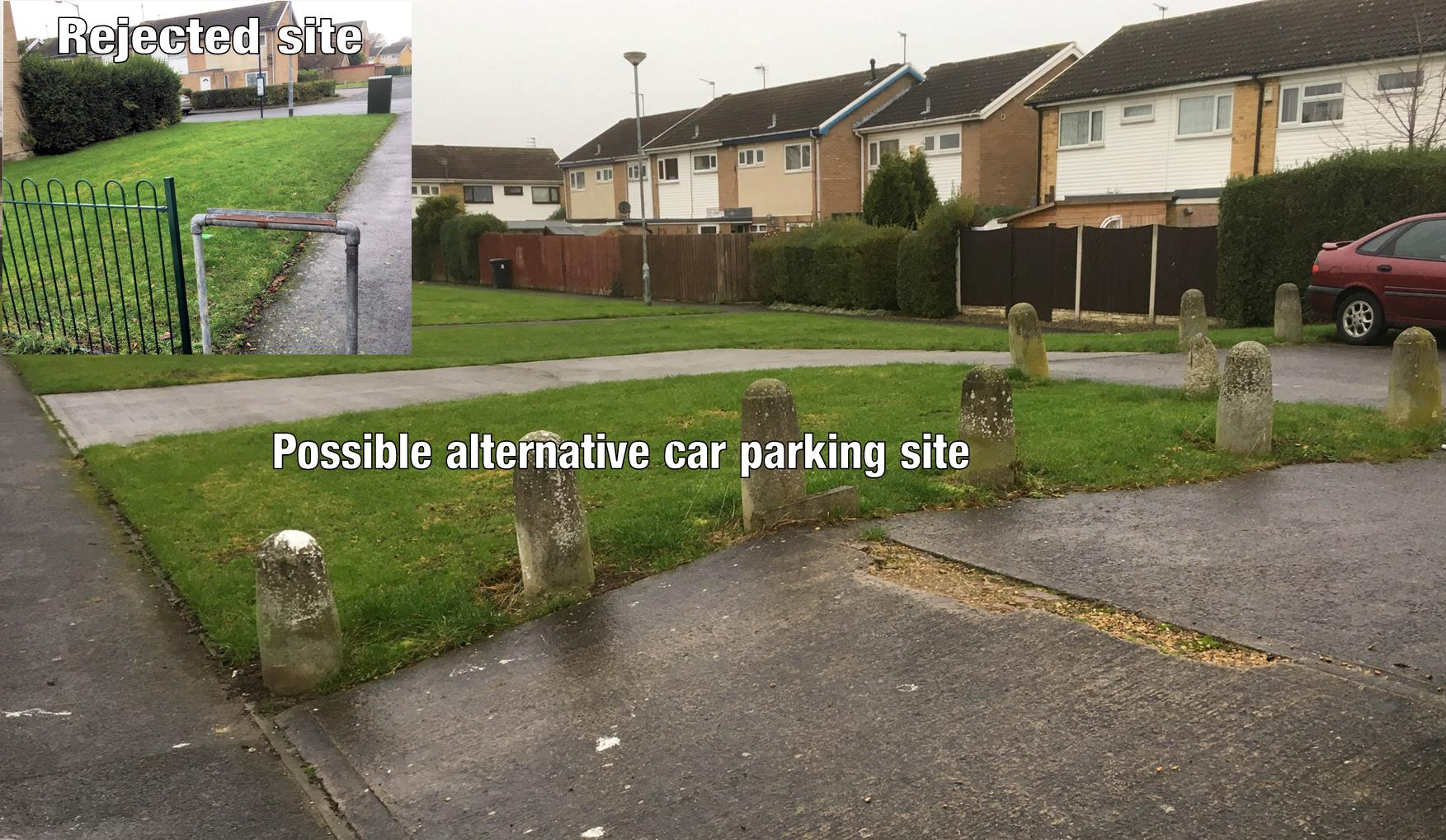 The Council have told local residents that the planned site for additional car parking spaces on Spurr Court/Bellhouse Way is unsuitable. A junction box restricts access to the site. Instead the Council are looking to provide more spaces in the Oldman Court area