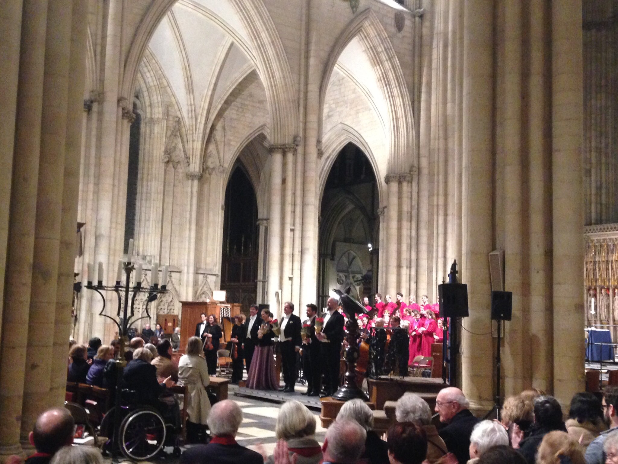 ..and into the evening with Handals Messiah attracting a record attendance at the Minster.