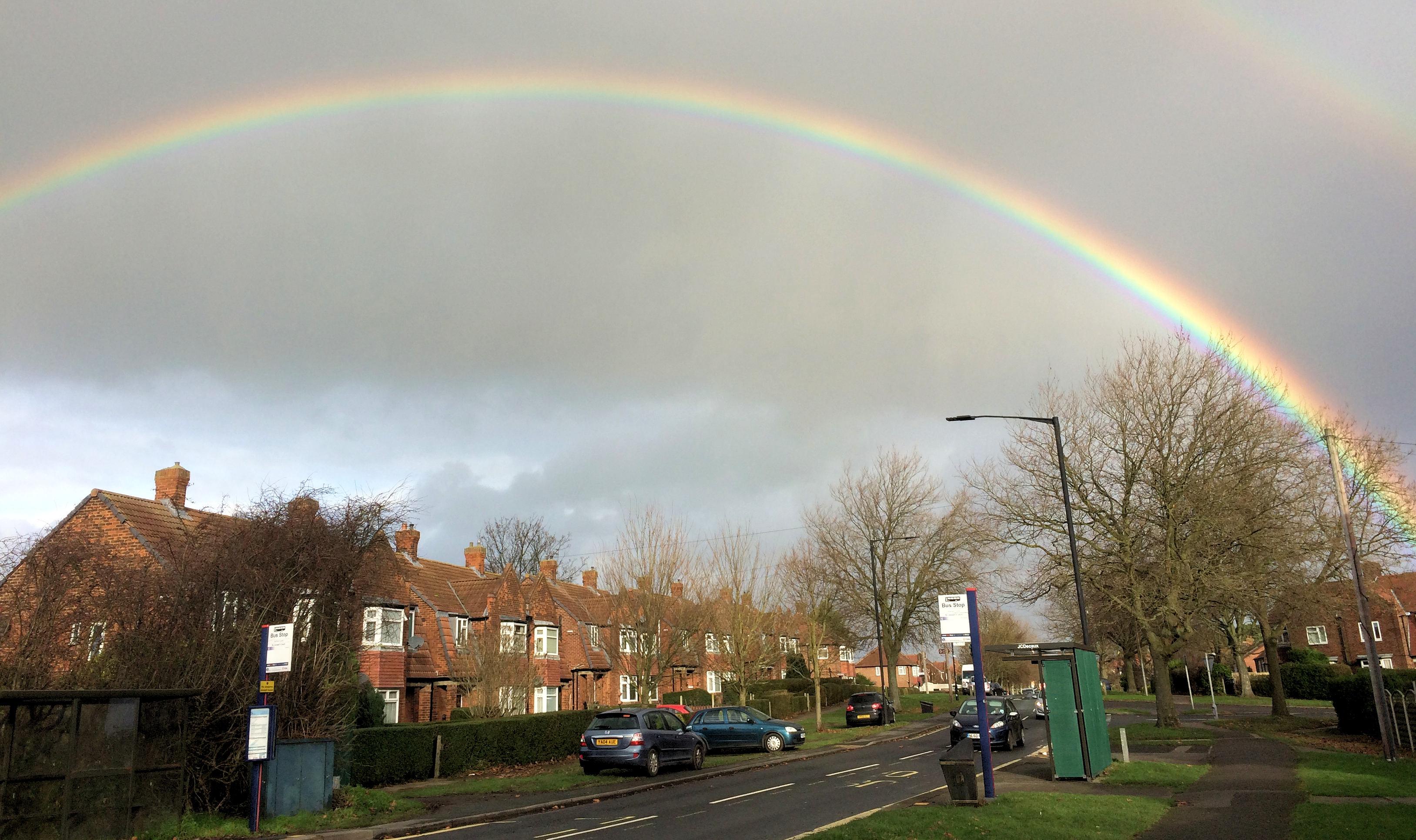 Rainbow over Acomb 25th Dec 2016