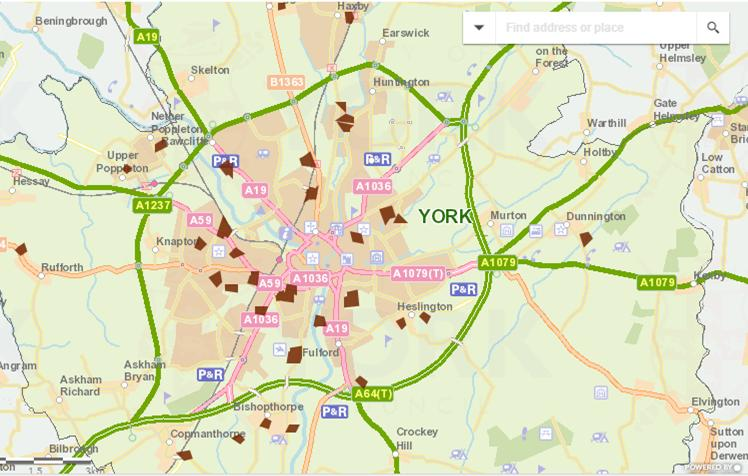 Where York's allotment are located