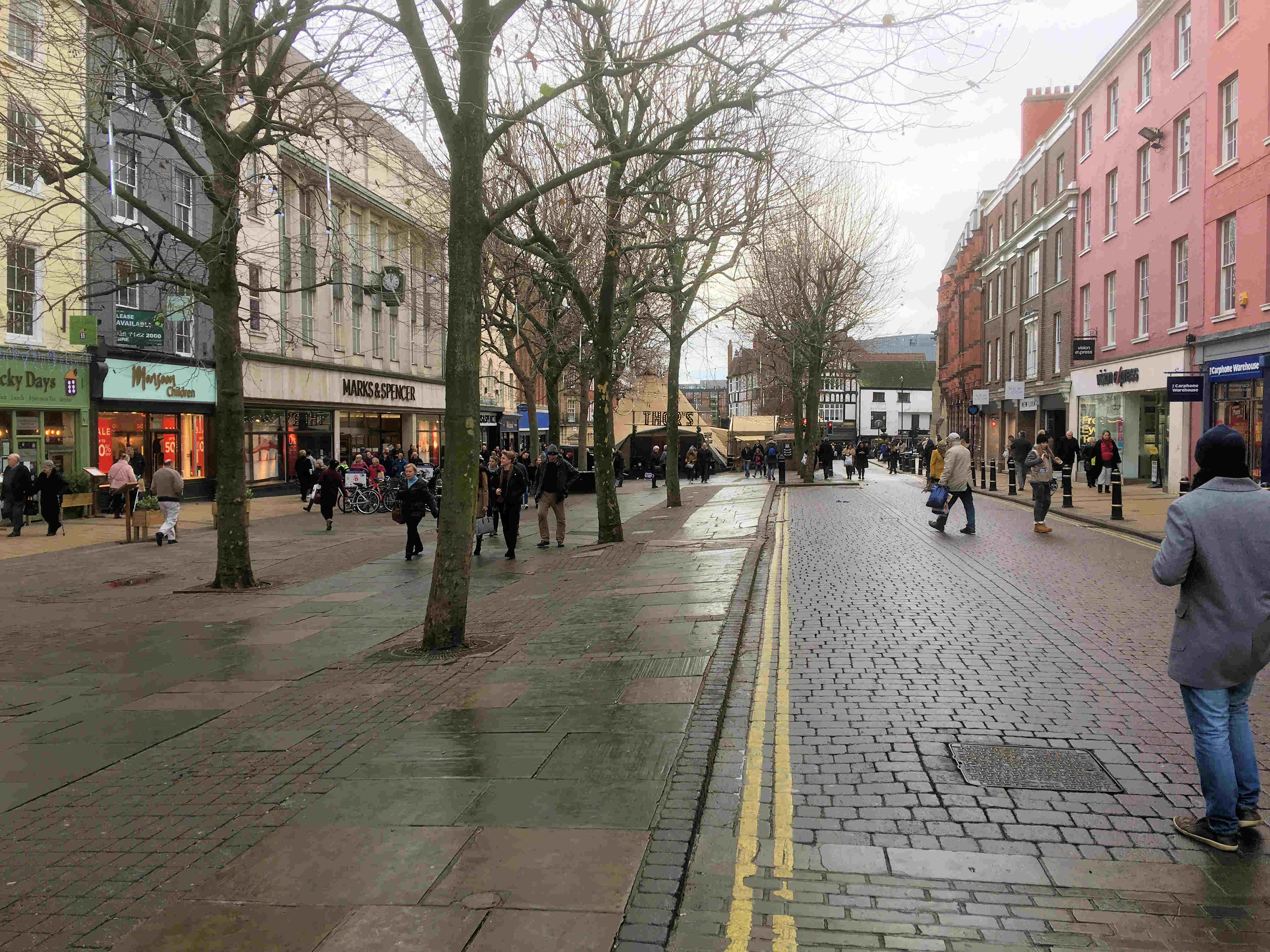 Parliament Street quiet since Chrsitmas
